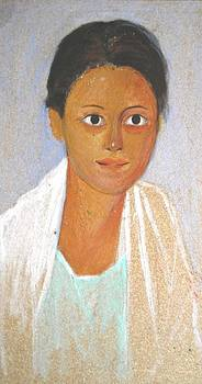 George Siaba - Portrait of a young woman