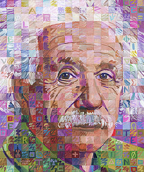 Portrait Of Albert Einstein by Randal Huiskens