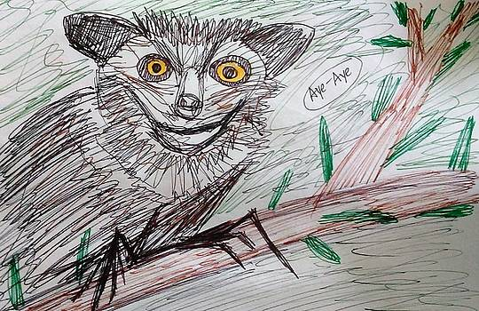 Portrait of an Aye Aye by Andrew Blitman