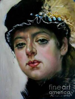 Portrait of an Unknown Woman after Ivan Nikolaevich Kramskoi by Hidemi Tada