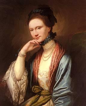 West Benjamin - Portrait Of Ann Barbara Hill Medlycott 1788