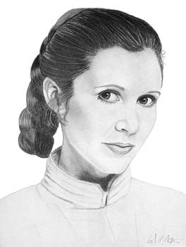 Portrait of Carrie Fisher as Princess Leia by Nicole I Hamilton