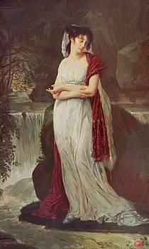 Portrait Of Christine Boyer 1800 by Gros AntoineJean