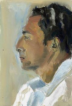 Portrait of Egyptian by Lelia Sorokina