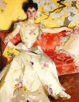 Zorn Anders - Portrait Of Elizabeth Sherman Cameron 1900