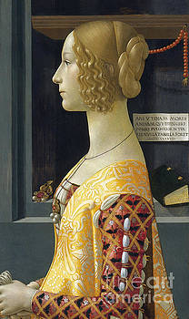 Portrait of Giovanna degli Albizzi Tornabuoni by Domenico Ghirlandaio