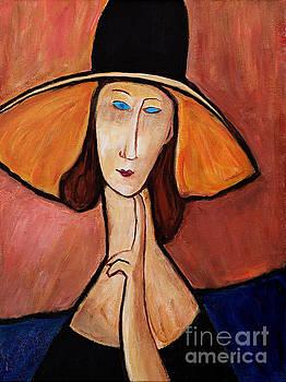 Portrait of Jeanne . Tribute to Modigliani by Art by Danielle