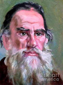 portrait of Leo Tolstoy after by Hidemi Tada