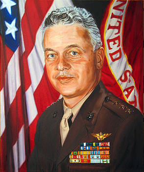Portrait of Lieutenant General George C. Axtell by Christopher Oakley