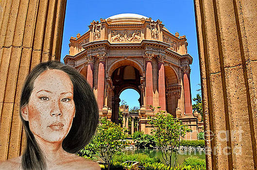 Portrait of Lucy Liu at the Palace of Fine Arts by Jim Fitzpatrick