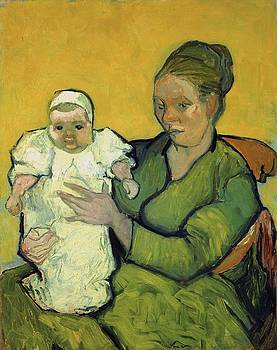 Portrait Of Madame Augustine Roulin And Baby Marcelle by Artistic Panda