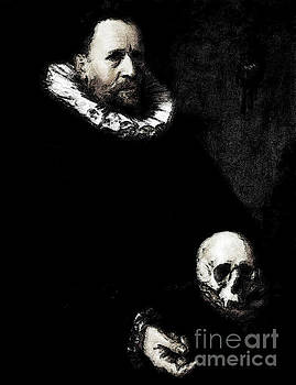 Portrait of Man and Skull by D Fessenden