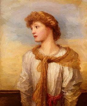 Watts George Frederick - Portrait Of Miss Lilian Macintosh
