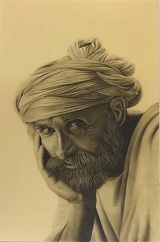 Portrait of old age by Ankit