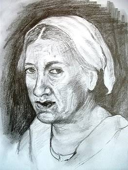 Portrait Of Old Woman by Covaliov Victor