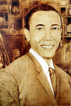 Portrait of President Obama  by Peter Green