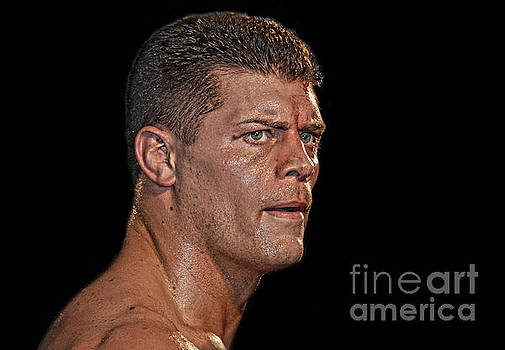 Portrait of Pro Wrestler Cody Rhodes by Jim Fitzpatrick