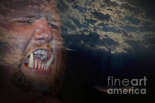 Jim Fitzpatrick - Portrait of Pro Wrestler Jody Kristofferson on a Rampage