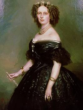 Winterhalter Franz Xaver - Portrait Of Queen Sophie Of Netherlands Born Sophie Of W Rttemberg 1863