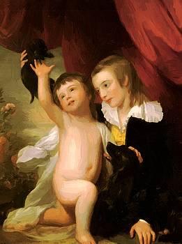 West Benjamin - Portrait Of Raphael West And Benjamin West Jr 1775
