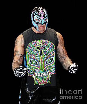 Portrait of Rey Mysterio by Jim Fitzpatrick