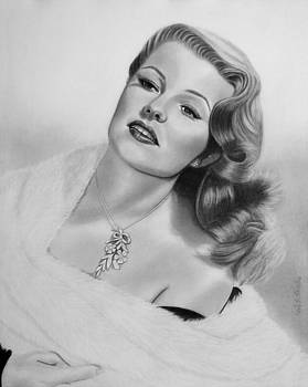 Portrait of Rita Hayworth by Nicole I Hamilton
