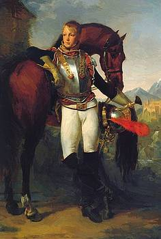 Portrait Of Second Lieutenant Charles Legrand 1810 by Gros AntoineJean