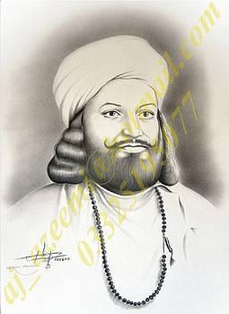 Portrait of Sufi Saint Syed Waris Ali Shah by Asif Javed Azeemi