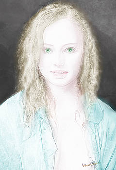 Portrait of the Girl in the Blue Shirt by Chas Sinklier