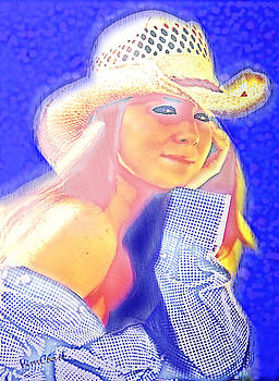 Portrait of The Girl in The Straw Hat by Chas Sinklier
