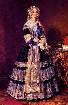 Winterhalter Franz Xaver - Portrait Of The Queen Marie Amelie Of France