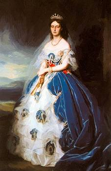 Winterhalter Franz Xaver - Portrait Of The Queen Olga Of W Rttemberg