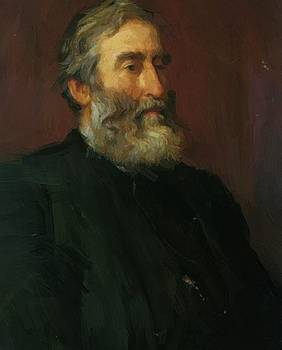 Watts George Frederick - Portrait Of The Reverend Harry Jones