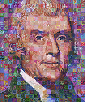 Portrait Of Thomas Jefferson by Randal Huiskens