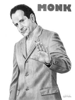 Portrait of Tony Shalhoub as Adrian Monk by Nicole I Hamilton