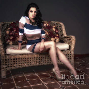 Portrait of Vanessa  ... by Chuck Caramella