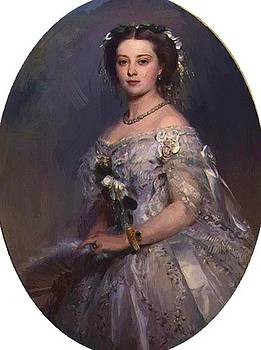 Winterhalter Franz Xaver - Portrait Of Victoria Princess Royal