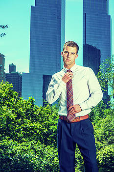 Alexander Image - Portrait of Young American Businessman working in New York