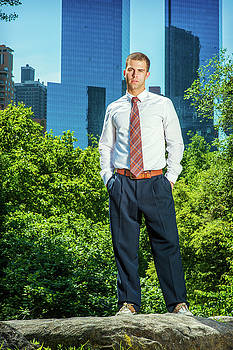 Alexander Image - Portrait of Young American Businessman working in New York in su