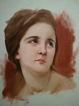 Portrait study after Bouguereau by Richard Thorpe