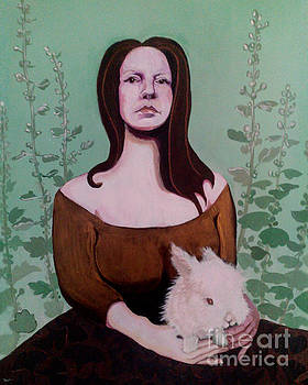 Portrait with Bunny by Dia T