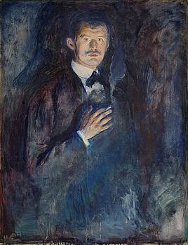 Portrait With Burning Cigarette by Edvard Munch