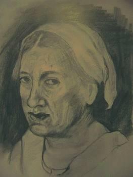 Portret De Batrana by Covaliov Victor