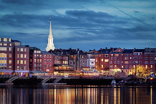 Portsmouth, NH Blue Hour by Dana Plourde