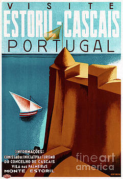 Portugal Estoril Vintage Travel Poster Restored by Carsten Reisinger