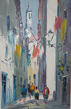 Portugese Street Scene by Virgilio Costa