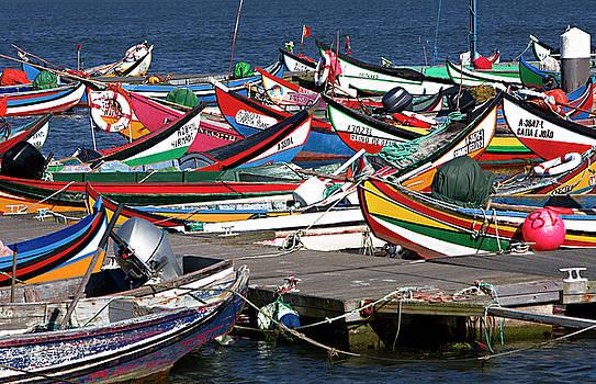 Portuguese fishing boats by Jim Wallace