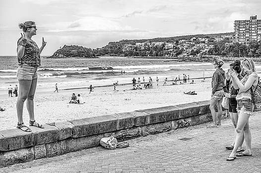 Posing at the Beach by Paul Donohoe