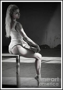 Posing ballerina by Michael Edwards