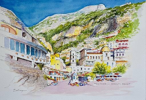 Positano Acquarello by Dai Wynn